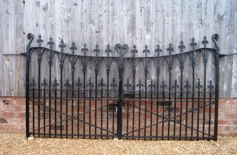 Antique original Georgian driveway gates ready to be automated available from our warehouse