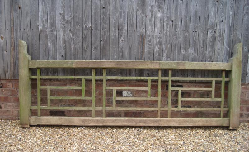 Original reclaimed vintage chunky solid oak driveway gate fully refurbished in our workshops and available to view in our warehouse