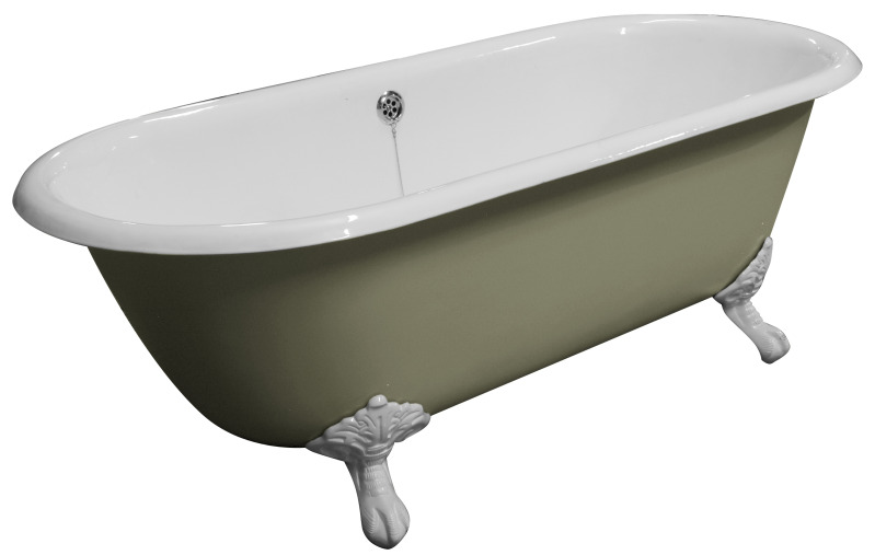 Brand New Ukaa Double Ended Roll Top Cast Iron Bath