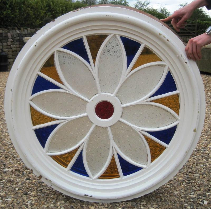 Antique Victorian stained glass windows are fully refurbished and available for delivery or collection from our yard in Staffordshire