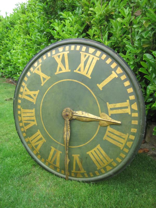 Antique Victorian Copper Clock Face With Copper Hands 5596