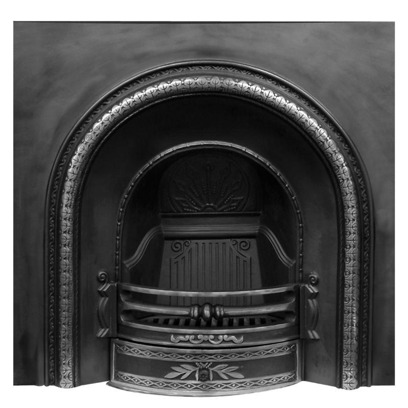 Falkirk Highlight Polish Cast Iron Fireplace Insert Rx003a