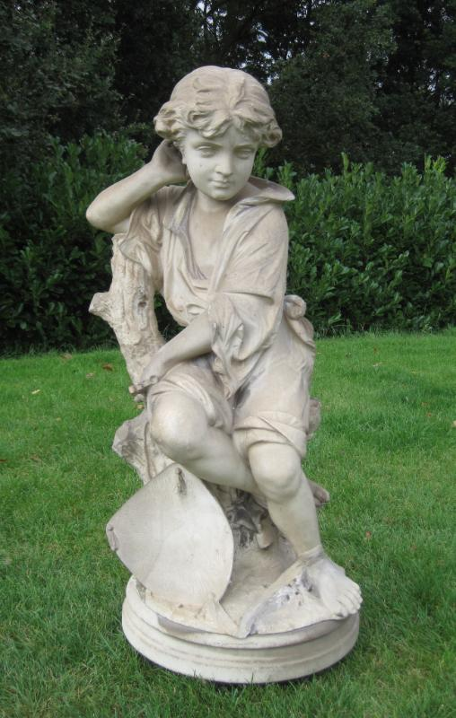 Antique Original Marble Statue Of Child Is for sale at UKAA