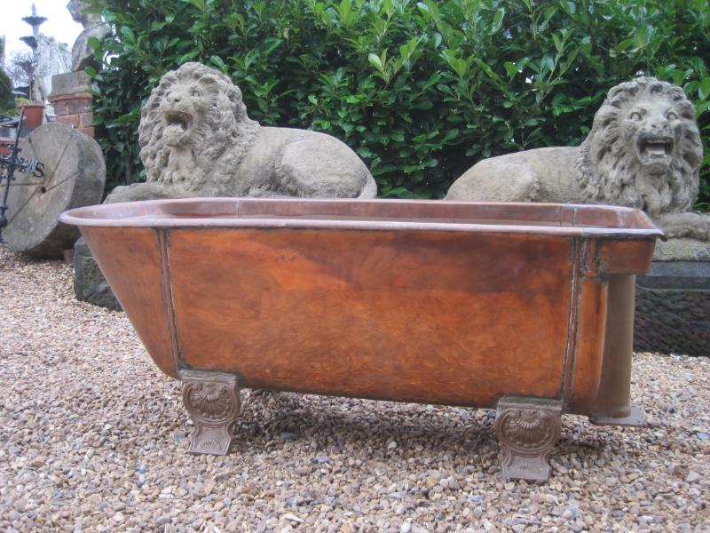 Antique reclaimed copper bath for old fashioned bathrooms are fully refurbished in our workshops and ready to be fitted in Victorian Bathrooms