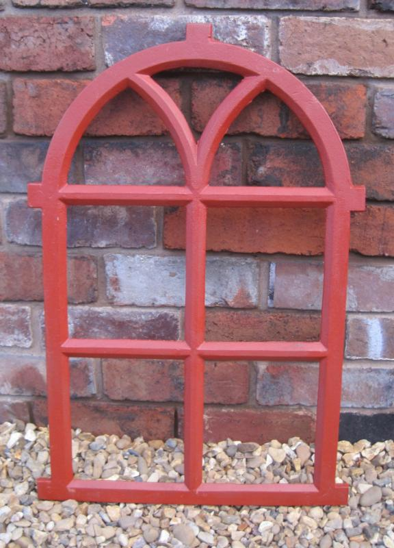 Antique Cast Iron Gothic Arched Window Frame 5841