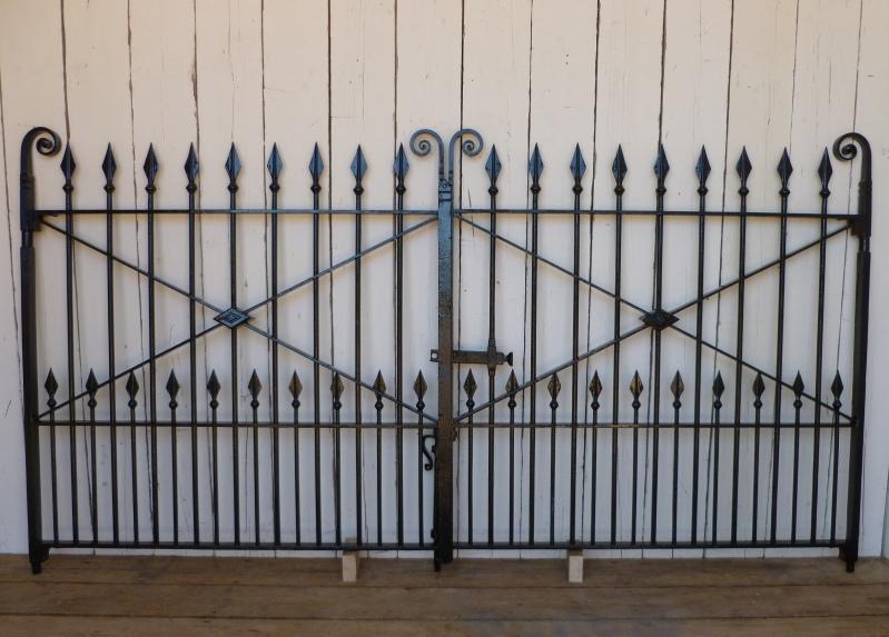 Buy wrought iron style metal garden railings wrought iron gates - Pair Of Antique Reclaimed Wrought Iron Gates Driveway