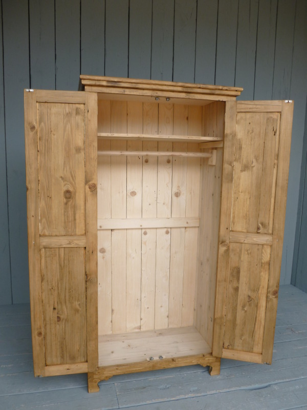 any size made wardrobes made from reclaimed pine or oak painted or waxed in a colour of your choice and available for delivery worldwide