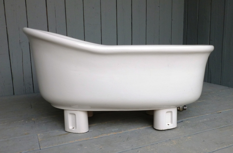 Antique reclaimed slipper bath suitable for vintage bathrooms as for ready to view and buy from our shop