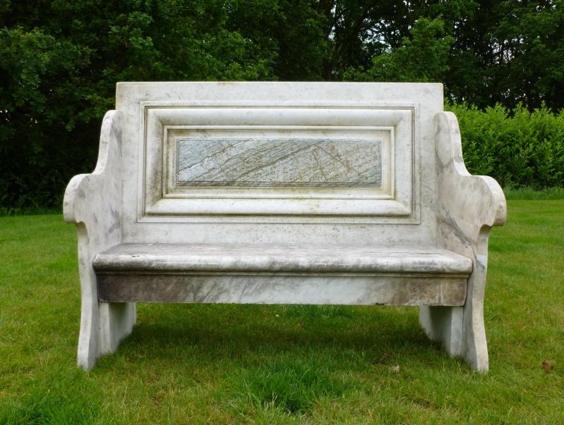Antique Marble Garden Bench