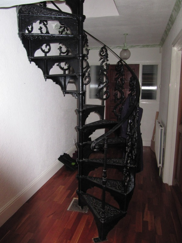Antique Victorian Reclaimed Old Spiral Stair case fitted in a loft