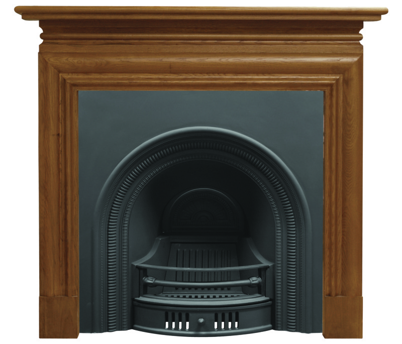 collingham arched black finish cast iron fireplace insert