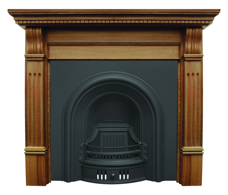 Arched coleby style RCM005 or RCM002 cast iron fireplace inserts are made by Carron in a highlight or black finish ready for immediate delivery or collection