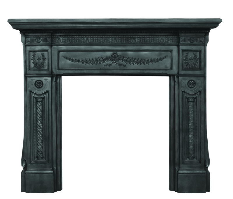 Carron Black Holyrood HEF345 good quality cast iron fireplace or mantelpieces are in stock in our showroom ready for you to come view and takeaway