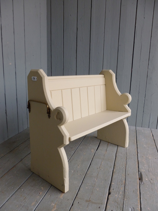 Antique Hand Painted Pitch Pine Church Pew Bench Seat Pews EBay
