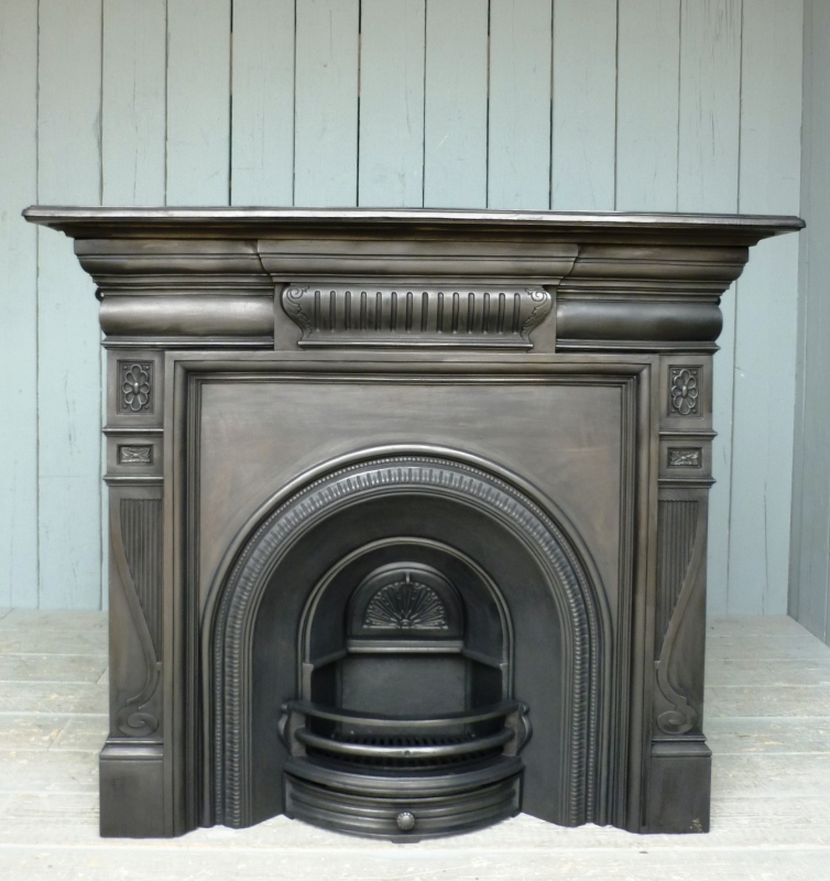 Traditional reclaimed antique chimney pieces, fireplace inserts and surrounds are fully refurbished in our workshops and ready for delivery worldwide