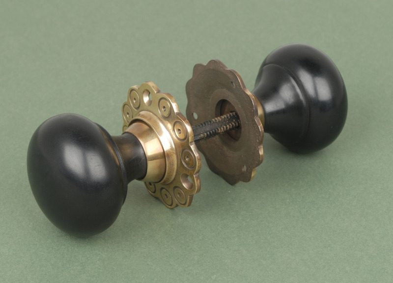 Antique Traditional Style Ebony Bun Knobs available in large quantities