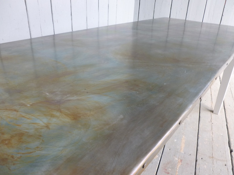 Top view of the Antique Zinc Table Top