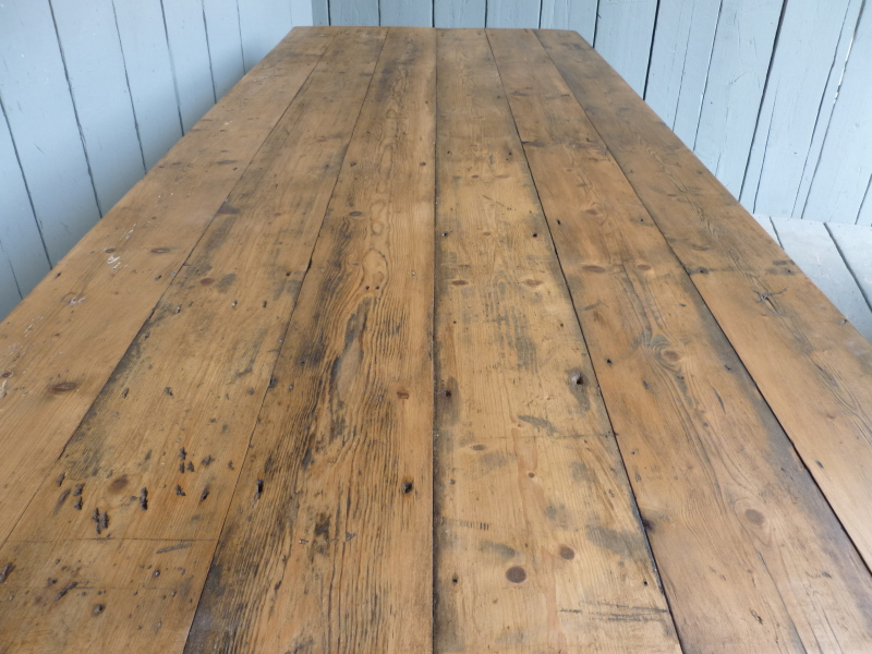 Antique salvaged reclaimed Victorian floorboards are ideal to make table tops and add character to any kitchen
