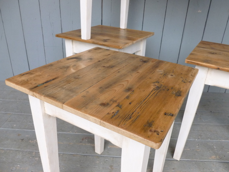 Made to order pine Kitchen tables made from reclaimed Victorian boards to give an aged rustic look to any kitchen