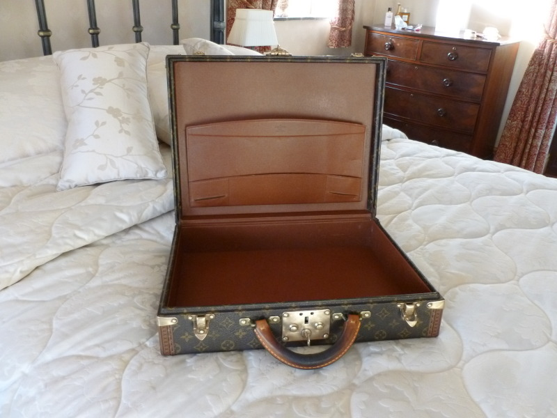Traditional antique Victorian original Louis Vuitton LV suitcases, luggage, briefcases, travelling accessories, vanity cases in stock ready for delivery