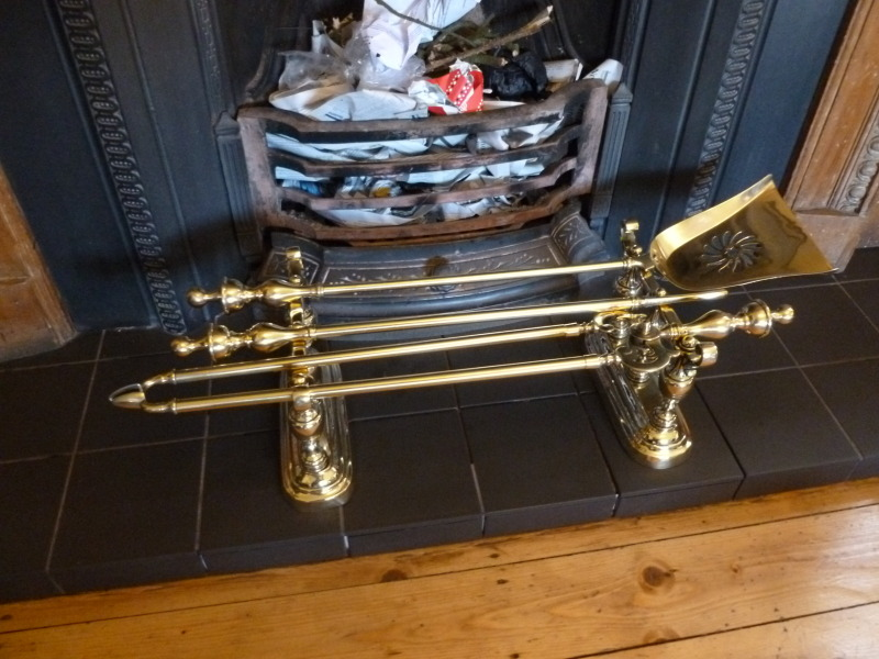 Original Antique refurbished fireplace irons and companion sets in stock ready for immediate dispatch