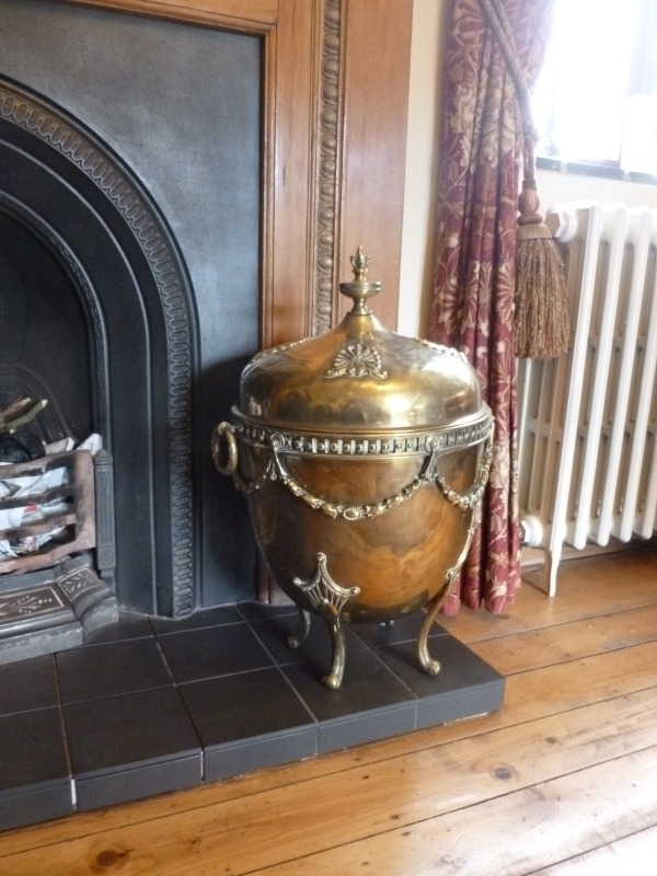 Original antique fully refurbished brass coal scuttles and buckets available for a next day delivery