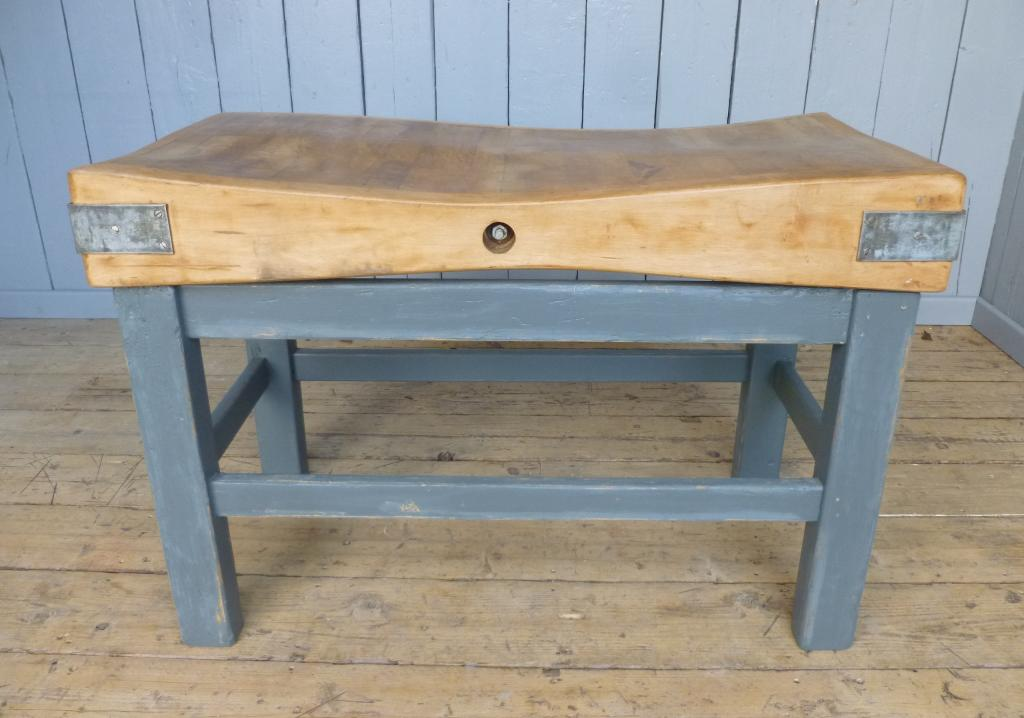 Antique Reclaimed Victorian Chunky Traditional Butchers Chopping Block Fully Refurbished In Our Works And Can Be