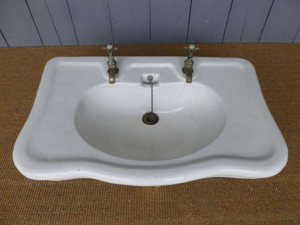 Antique Bathroom Sink with Taps