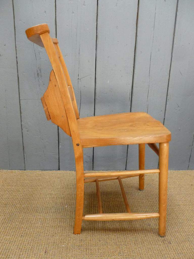 Antique church chapel chairs seats dining chapel kitchen for Used school furniture outlet