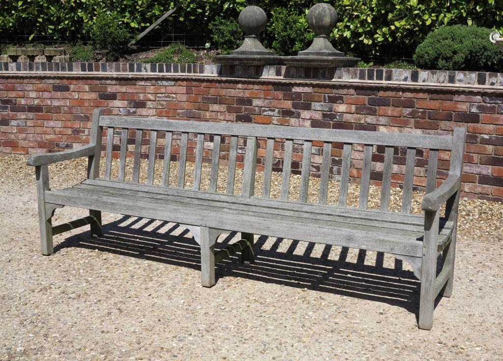 Large Vintage Teak Garden Bench Seat