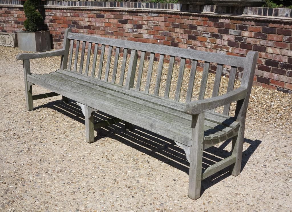 Large Vintage Teak Garden Bench Seat,vintage bench,8 foot,teak bench,