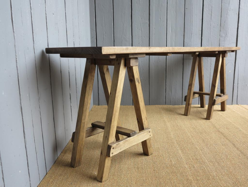 Plank Top Trestle Or A Frame Tables