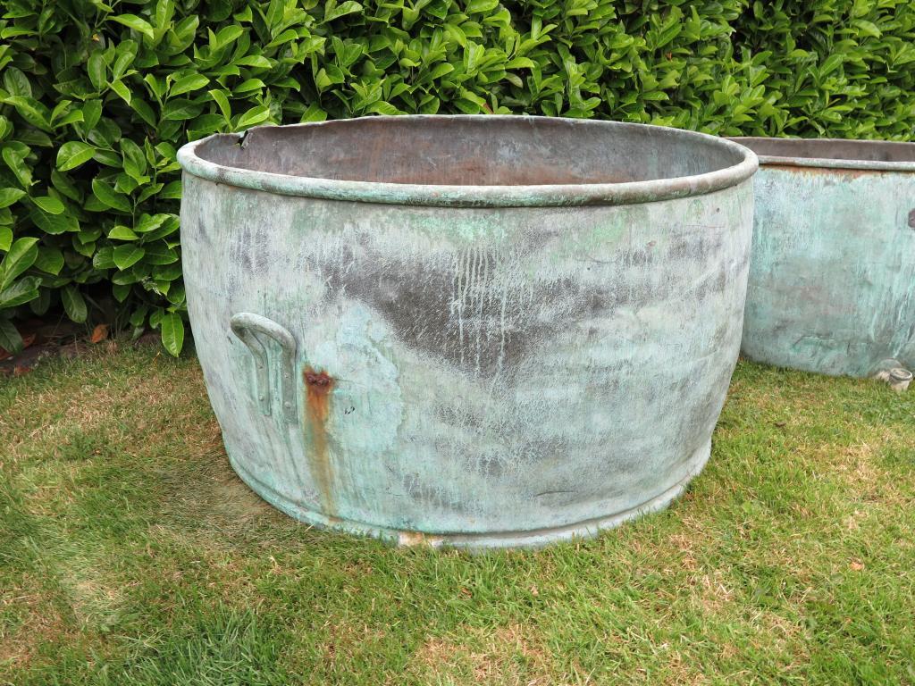 details about large antique copper planter 39 s garden planter plant