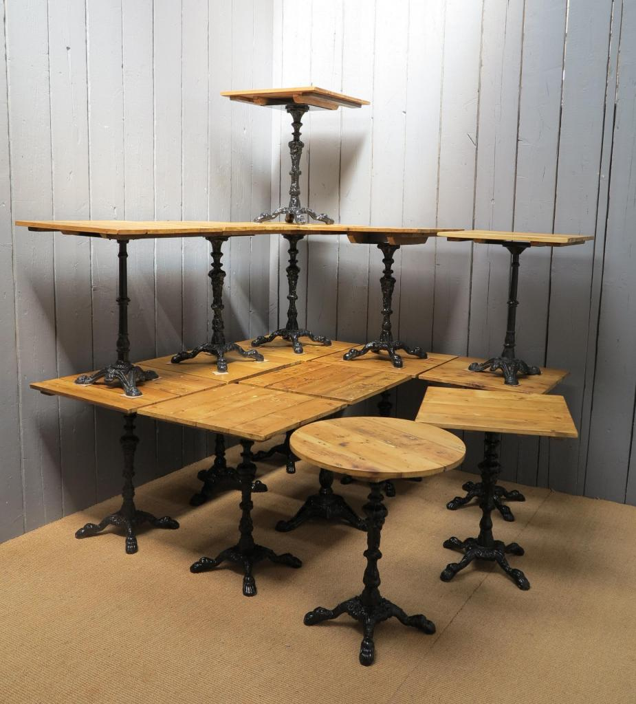 Original antique reclaimed Victorian pine top tables ideal for pubs or bars made to seat two ready for delivery worldwide