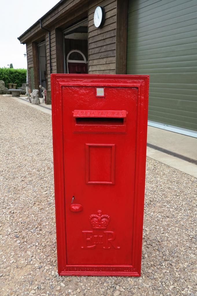 Very Large Antique Wall Mounted Post Box With Rear Door 6430