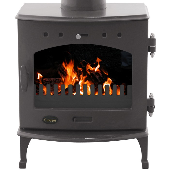 Carron Wood Burning Stove in a Coloured Enamel Ideal for Period Homes Burning Real Fuel can be used in Smoke except Area