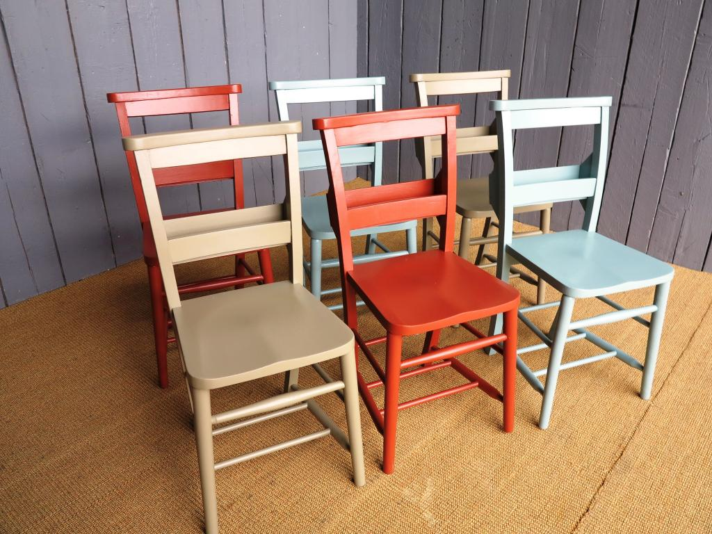 Antique Church Chairs With Book Holders 7473