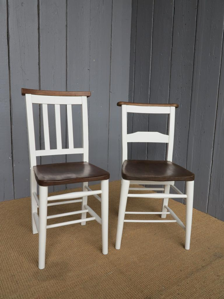 21 available antique church chairs with book holders - kitchen