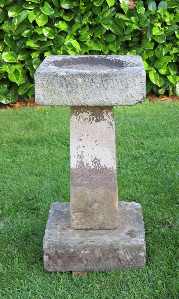 Antique Reclaimed Stone Bird Bath Birdbath Ornaments