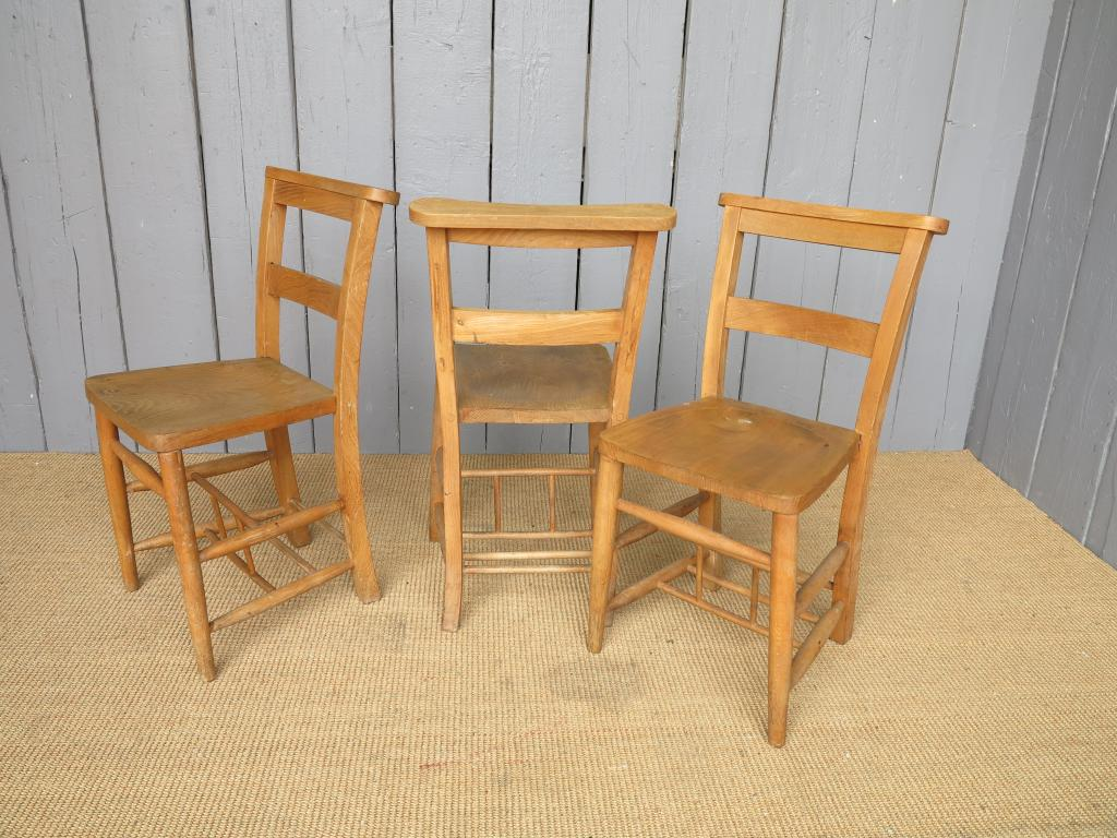 Antique Church Chapel And School Chairs From UKAA In Cannock Wood