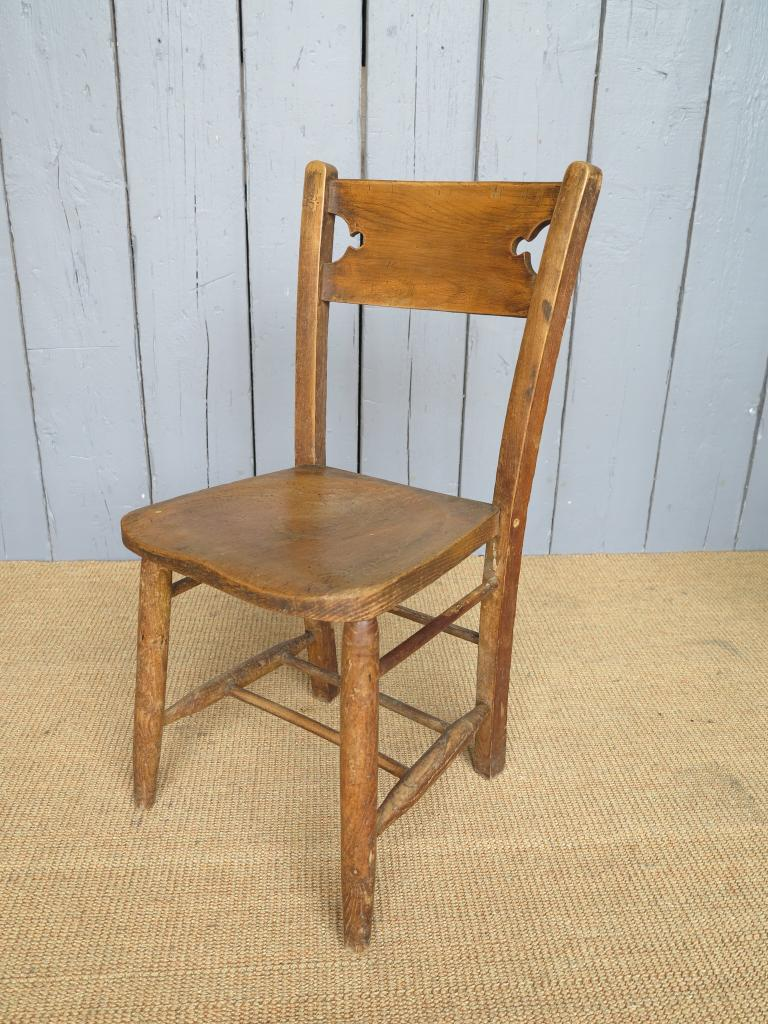 Antique gothic elm church chairs seats dining chapel for Used school furniture outlet