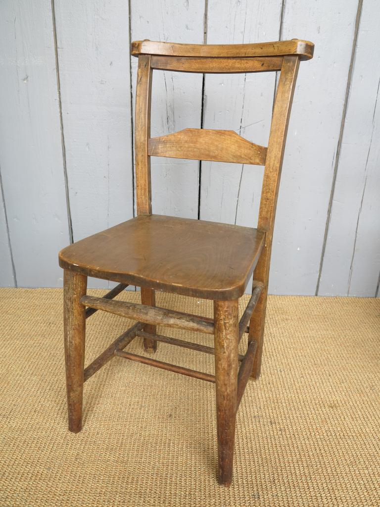Antique Solid Elm Church Chairs Seats Dining Chapel Kitchen Antique EBay