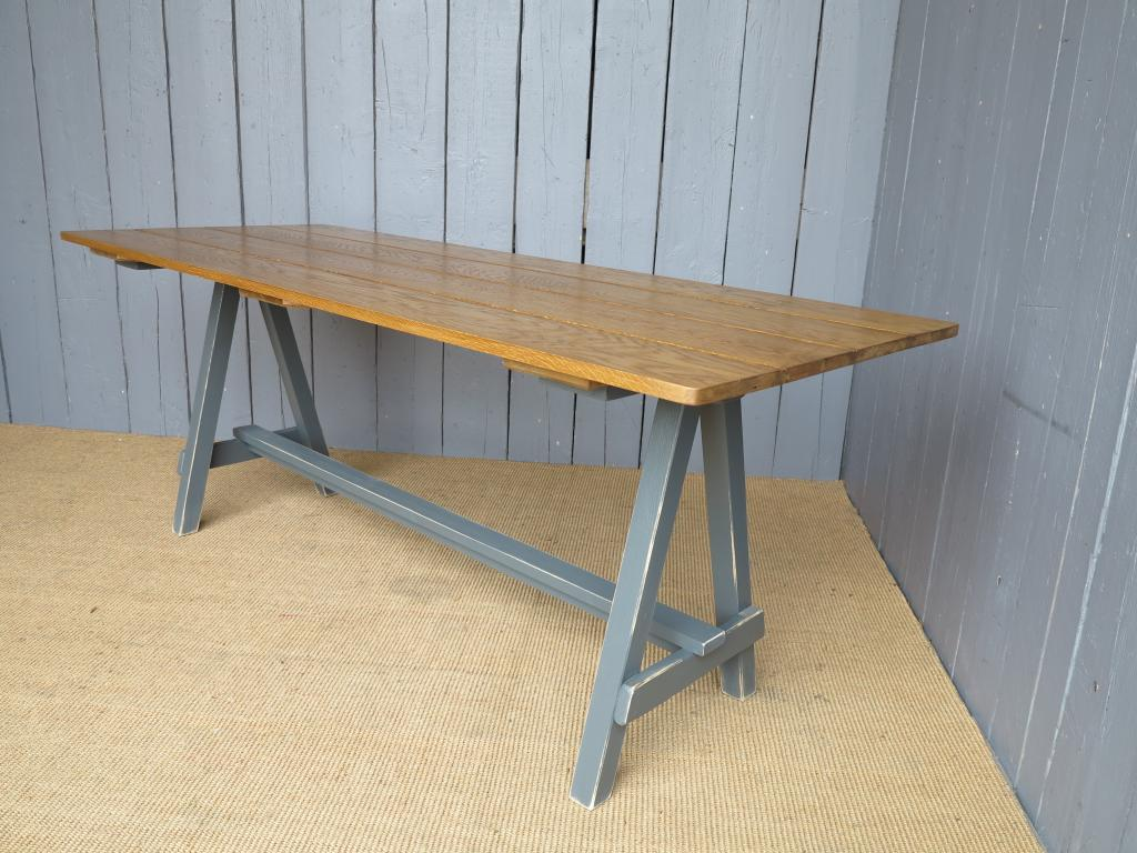 Made To Measure Tables A Frame Table Jacobean Wax Oak Table Oak Table . Full resolution  photograph, nominally Width 1024 Height 768 pixels, photograph with #9E6F2D.