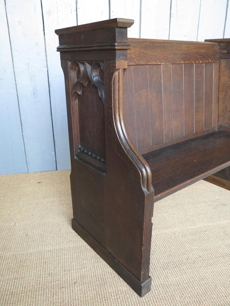 Solid Oak Antique Church Pew Bench Seat Pews Salvaged Ebay