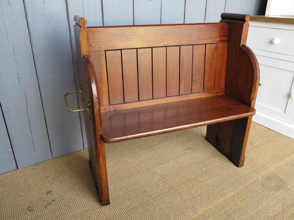 solid pitch pine antique church hallway pew bench seat pews salvaged ebay. Black Bedroom Furniture Sets. Home Design Ideas