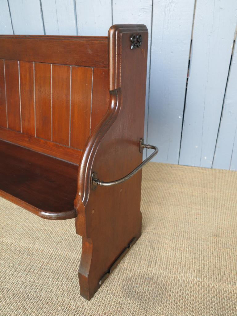 Antique Solid Pitch Pine Kitchen Church Pew Bench Seat Pews Salvaged EBay