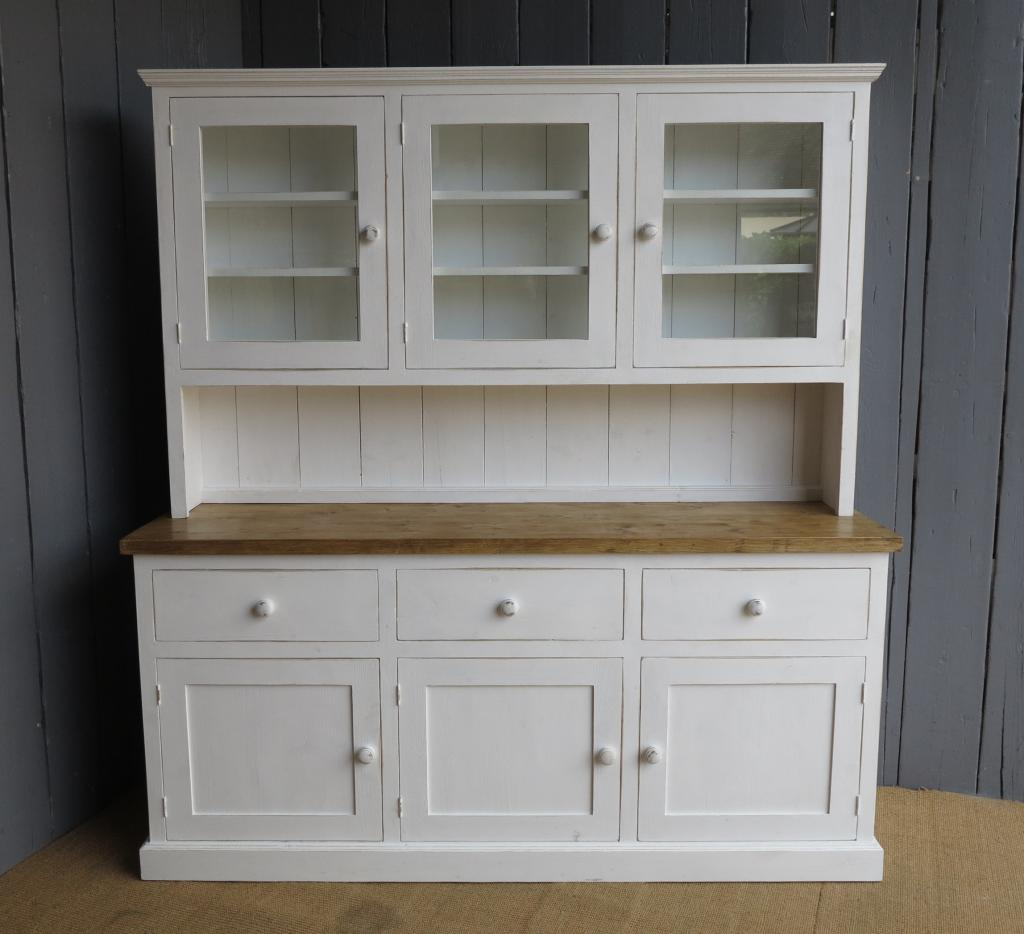 Made to measure reclaimed pine kitchen dresser made order in your sizes here in our workshops