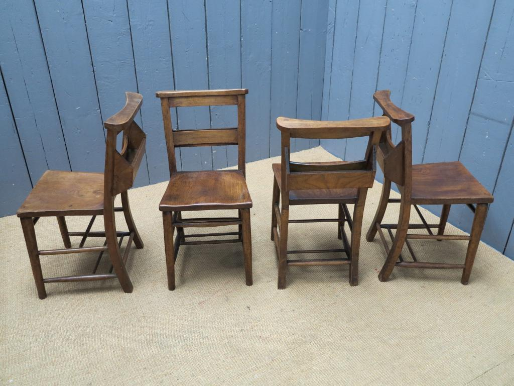 Antique wooden seated kitchen chairs 7047