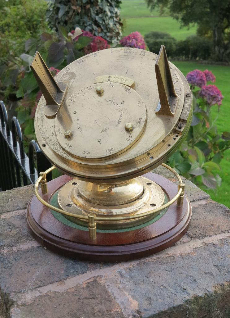 Original Early Antique Pilkington Gibbs Heliochronometer Sundials refurbished in our workshops
