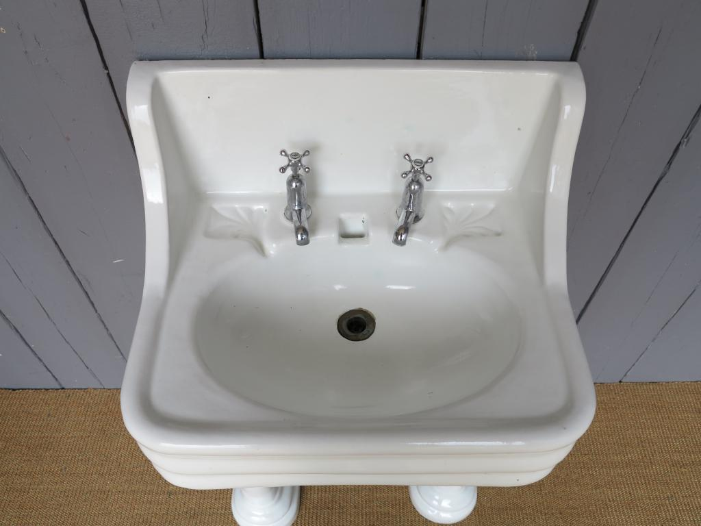 Antique Sink on a Twin Pedestal Base,stand,Bathroom Sink with pedestal ...